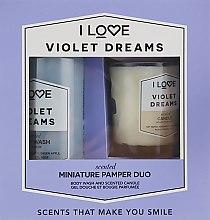 Духи, Парфюмерия, косметика Набор - I Love Violet Dreams (candle/50g + b/wash/100ml)