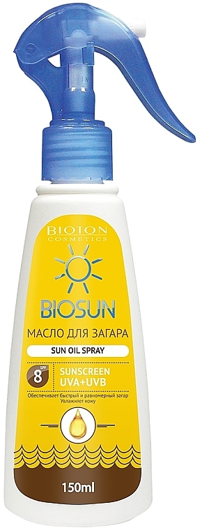 Масло для загара SPF 8 - Bioton Cosmetics BioSun