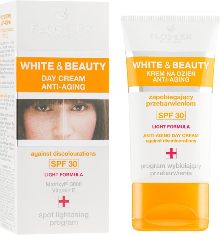 Дневной крем для лица - Floslek White & Beauty Anti-Aging Day Cream SPF 30