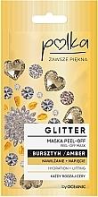 Духи, Парфюмерия, косметика Отшелушивающая маска с янтарем - Polka Glitter Peel Off Mask Amber