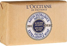 "Духи, Парфюмерия, косметика Мыло ""Молоко"" - L'occitane Shea Butter Extra Gentle Soap-Milk"