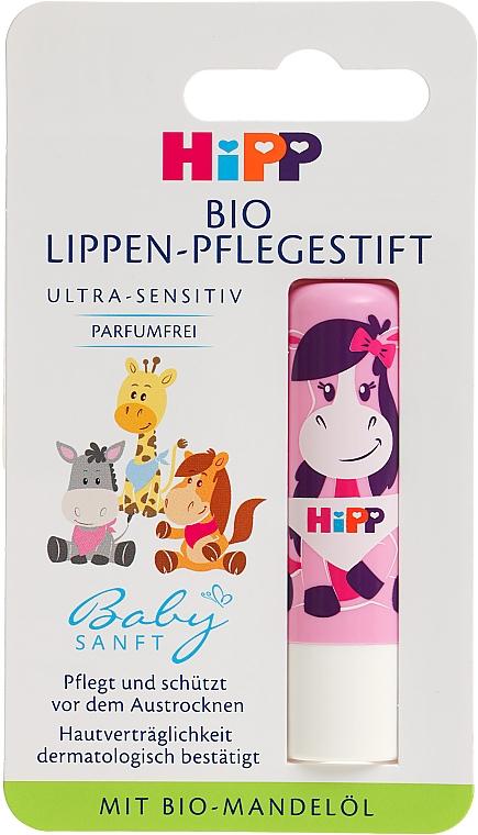 Детская гигиеническая помада, розовый корпус - HiPP Babysanft