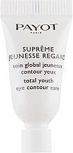 Духи, Парфюмерия, косметика Крем для области вокруг глаз, антивозратной - Payot Supreme Jeunesse Regard (пробник)