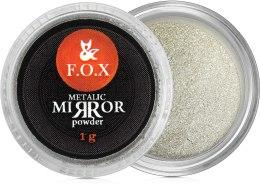 Духи, Парфюмерия, косметика Зеркальная пудра для ногтей - F.O.X Metalic Mirror Powder Silver