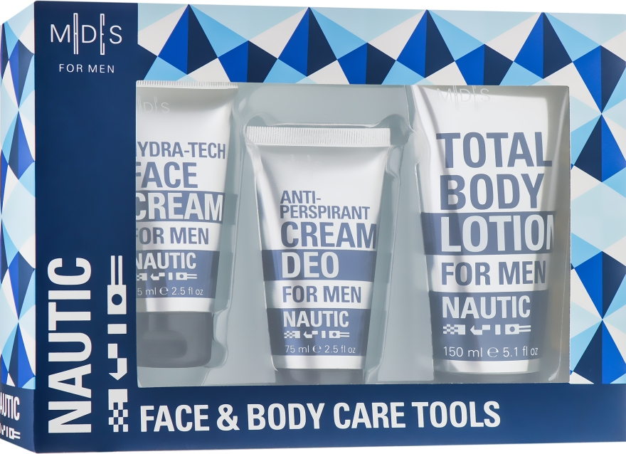 Набор - Mades Cosmetics Nautic (cr/75ml + lot/150ml + cr/75ml)