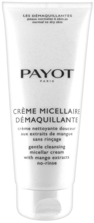 Очищающий крем с экстрактом манго - Payot Les Demaquillantes Gentle Cleansing Micellar Cream With Mango Extracts No Rinse