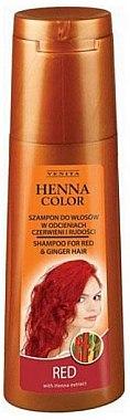 Шампунь для волос в рудых оттенках - Venita Henna Color Red Shampoo