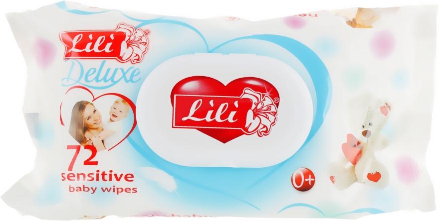 Влажные салфетки антибактериальные с экстрактом календулы и витамином Е, 72 шт - Lili Deluxe