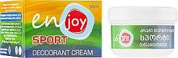 Духи, Парфюмерия, косметика Эко-крем-дезодорант - Enjoy & Joy Sport Deodorant Cream