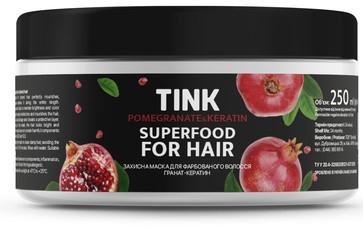 "Защитная маска для окрашенных волос ""Гранат-кератин"" - Tink Hair Mask"