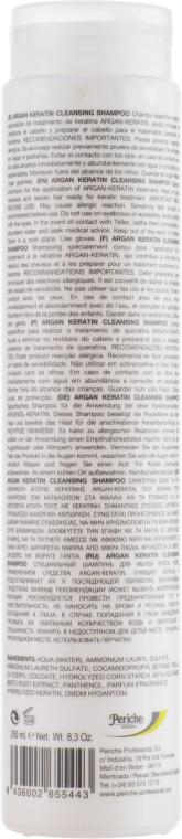 Очищающий шампунь - Periche Professional Keratin Argan Cleansing Shampoo — фото N2