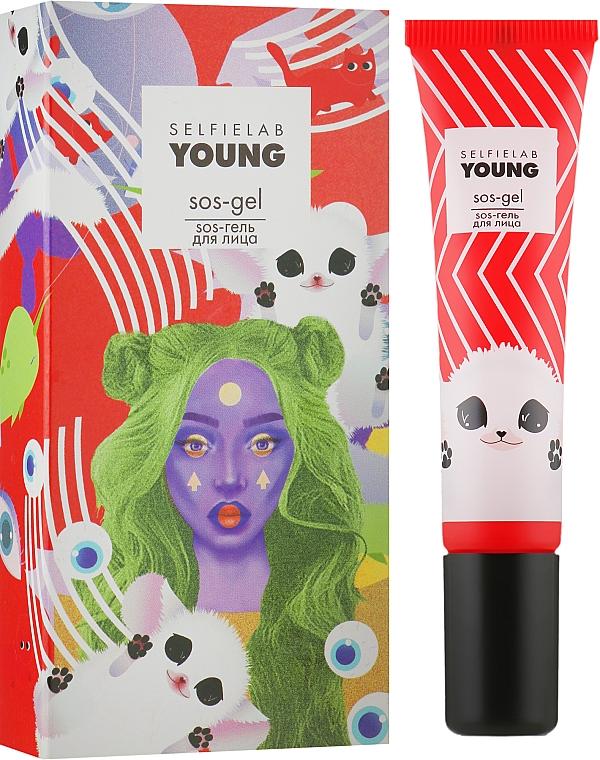 Гель для лица с экстрактом зеленого чая - Selfielab Young Sos-Gel