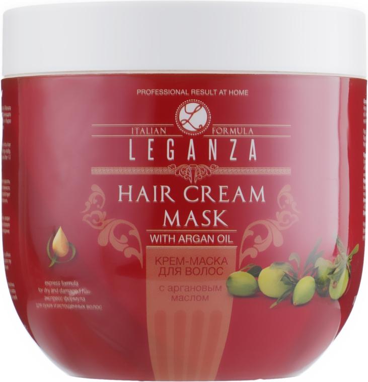 Крем-маска для волос с аргановым маслом - Leganza Cream Hair Mask With Argan Oil (без дозатора)