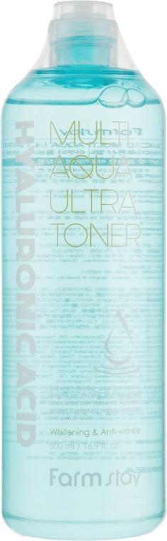 Тонер с гиалуроновой кислотой - FarmStay Hyaluronic Acid Multi Aqua Ultra Toner
