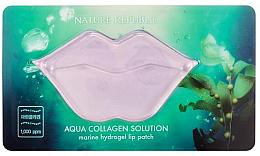 Духи, Парфюмерия, косметика Маска для губ гидрогелевая - Nature Republic Aqua Collagen Solution Marine Hydrogel Lip Patch