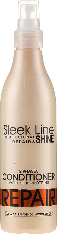 Двухфазный кондиционер для волос - Stapiz Sleek Line Repair 2 Phases Conditioner
