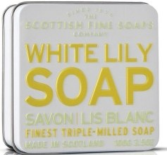 "Духи, Парфюмерия, косметика Мыло ""Белая лилия"" - Scottish Fine Soaps White Lily Floral Soap In A Tin"