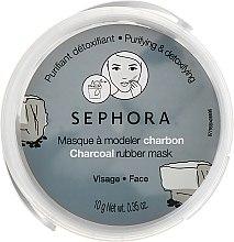 """Духи, Парфюмерия, косметика Альгинатная маска для лица """"Древесный уголь"""" - Sephora Charcoal Rubber Mask"""