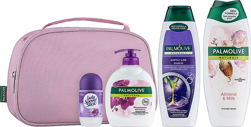 """Подарочный набор """"Увлажнение для чувствительной кожи"""" - Palmolive (sh/gel/500ml + shm/350ml + h/soap/300ml + deo/50ml)"""