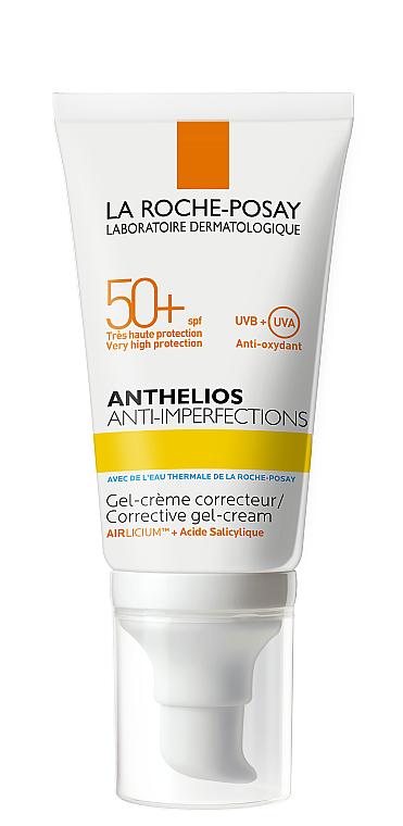 Солнцезащитный корректирующий гель-крем для жирной, проблемной и склонной к акне кожи лица SPF 50+ - La Roche-Posay Anthelios Anti-Imperfections SPF50+