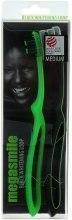 Духи, Парфюмерия, косметика Зубная щетка «Блек Вайтенинг Loop», зеленая + черная - Megasmile Black Whiteninng Loop