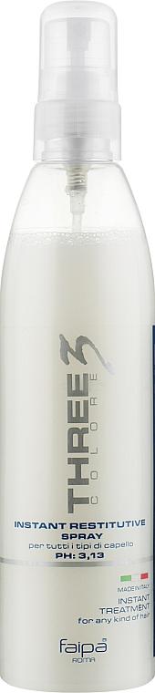 Несмываемый спрей-кондиционер для волос - Faipa Roma Three Colore Instant Restitutive Spray
