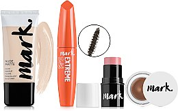 Духи, Парфюмерия, косметика Набор - Avon Mark (fluid/30ml+mascara/10ml+blush/4g+gel/brow4g)