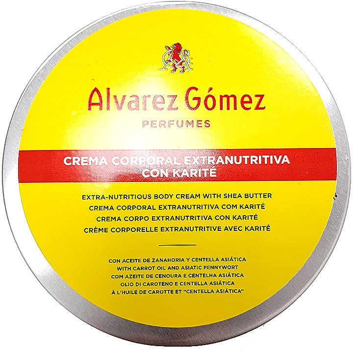 Alvarez Gomez Agua De Colonia Concentrada Crema de Karite Corporal - Крем для тела