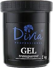 Духи, Парфюмерия, косметика Гель прозрачный, моделирующий для наращивания ногтей Di972 - Divia Base Coat