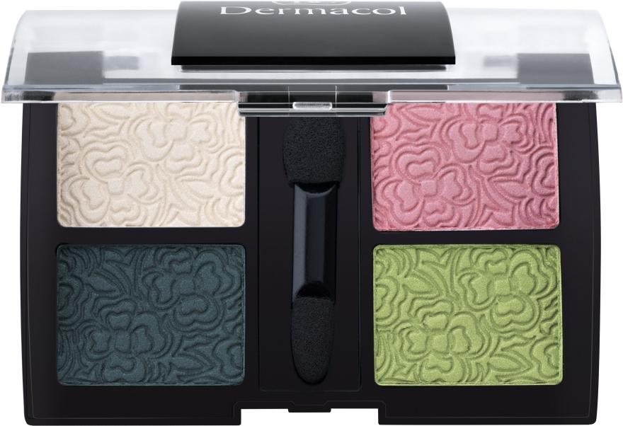 Тіні для повік чотирьохкольорові - Dermacol Quatro Eye Shadow — фото N1