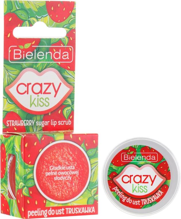 "Сахарный скраб для губ ""Клубника"" - Bielenda Crazy Kiss Strawberry Sugar Lip Scrub"
