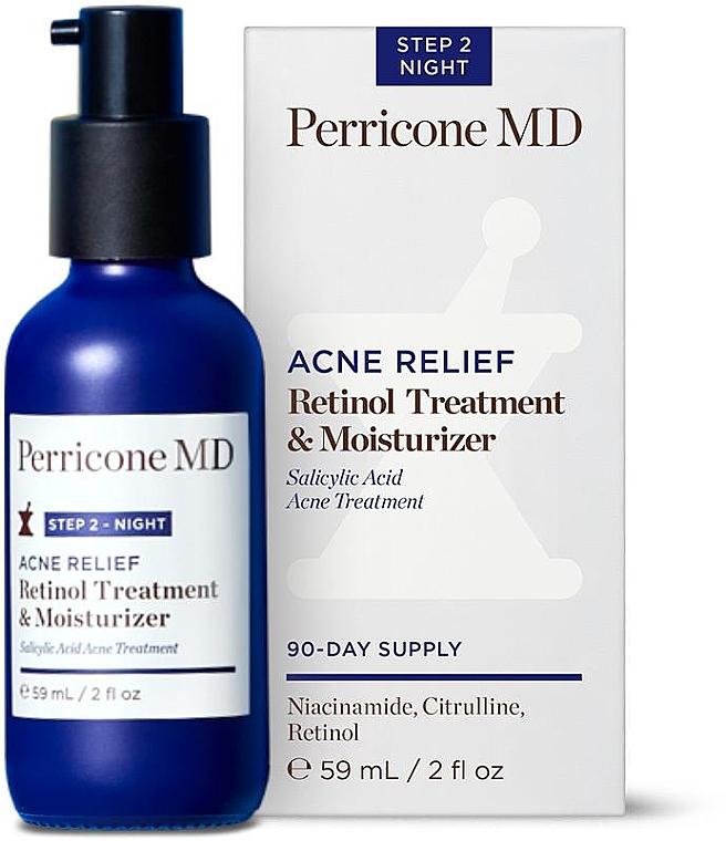 Увлажняющий крем для лица с ретинолом - Perricone MD Acne Relief Retinol Treatment & Moisturizer
