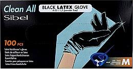 Духи, Парфюмерия, косметика Перчатки латексные, неопудренные, черные, размер М - Sibel Clean All Black Latex Glove A.Q.L 1,5