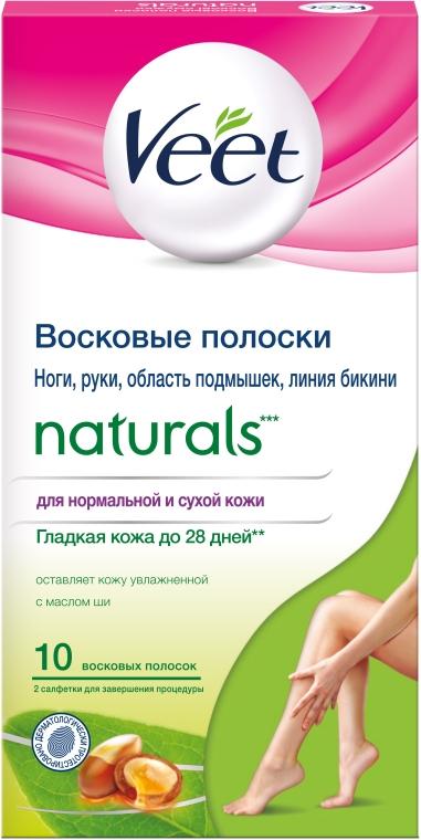 Восковые полоски с маслом Ши для ног и рук - Veet Naturals