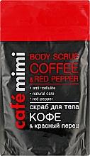 """Духи, Парфюмерия, косметика Скраб для тела """"Кофе и красный перец"""" - Cafe Mimi Body Scub Coffee & Red Pepper"""