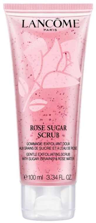 Нежный скраб для лица с гранулами сахара и розовой водой - Lancome Rose Sugar Scrub