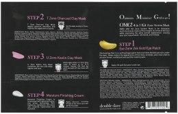 Четырехкомпонентная маска для очищения лица - Double Dare OMG! 4in1 Kit Zone System Mask — фото N2