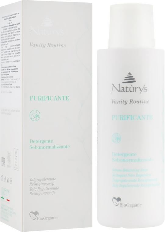 Жидкое мыло для лица нормализирующее сальные железы - Bema Cosmetici Naturys Vanity Sebum-balancing Soap