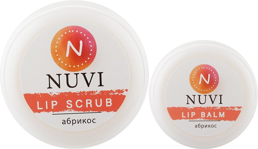 "Подарочный набор для губ ""Абрикос"" - Nuvi (lip/balm/10g + lip/scrub/20g)"