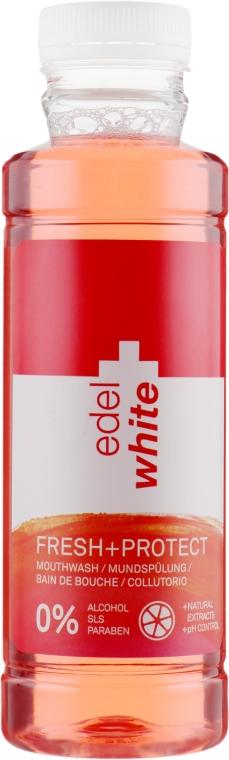 """Ополаскиватель ротовой полости """"Свежесть + Защита"""" с вкусом грейпфрута и лайма - Edel+White Mouth Wash"""