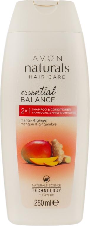 """Шампунь-ополаскиватель 2 в 1 """"Бесконечная свежесть. Имбирь и манго"""" - Avon Naturals Hair Care"""