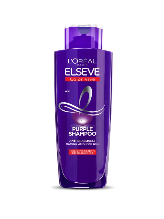 Тонирующий шампунь для осветленных, мелированных и серебристых волос - L'Oreal Paris Elseve Purple
