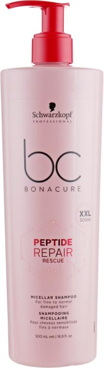 Восстанавливающий мицеллярный шампунь - Schwarzkopf Professional BC Bonacure Repair Rescue Micellare Shampoo