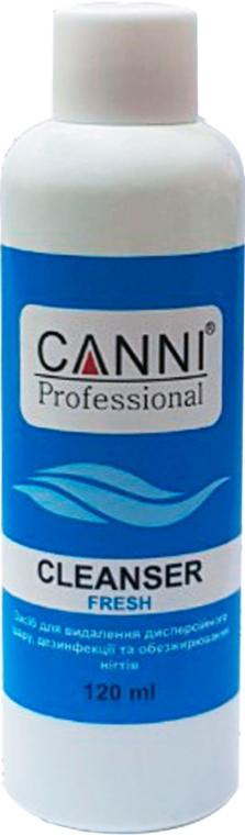 Средство для удаления липкого слоя, дезинфекции и обезжиривания ногтей - Canni Cleanser Fresh