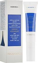 Парфумерія, косметика Зволожувальний крем для шкіри навколо очей з грецьким йогуртом - Korres Greek Yogurt Eye Cream