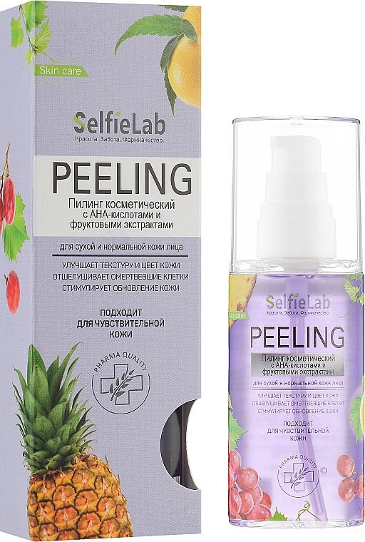 Пилинг с АНА-кислотами и фруктовыми экстрактами для сухой и нормальной кожи - Selfielab Peeling