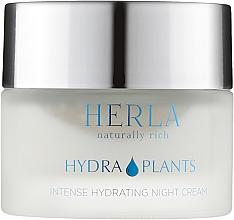Духи, Парфюмерия, косметика Ночной крем для лица - Herla Hydra Plants Intense Hydrating Night Cream