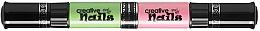 Духи, Парфюмерия, косметика Детский лак-карандаш для ногтей на водной основе, цвет морской волны + розовый - Creative Nails