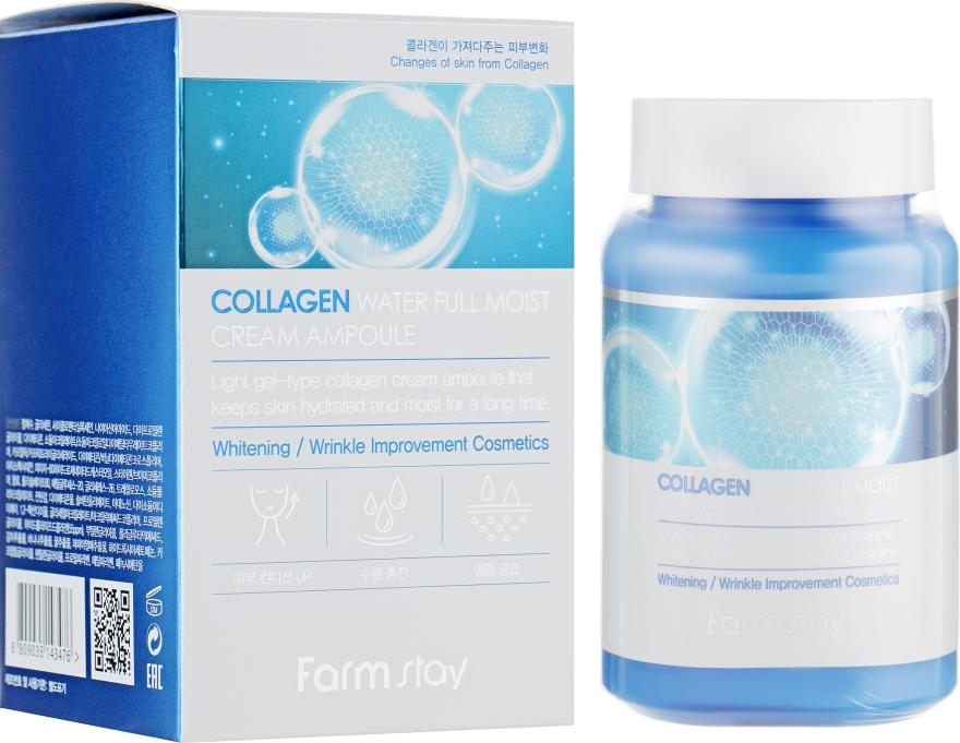Увлажняющий крем-сыворотка с коллагеном - FarmStay Collagen Water Full Moist Cream Ampoule