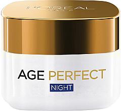 Духи, Парфюмерия, косметика Идеальный ночной питательный крем - L'Oreal Paris Age Perfect Reinforcing Rich Night Cream